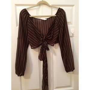 Tops - Striped wrap top